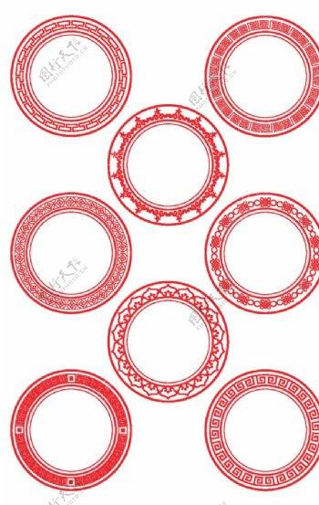圆形花纹边框图片
