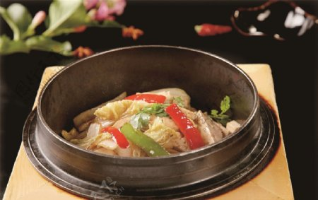 干锅豆腐白菜图片