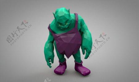 C4D模型怪兽恶魔魔鬼图片