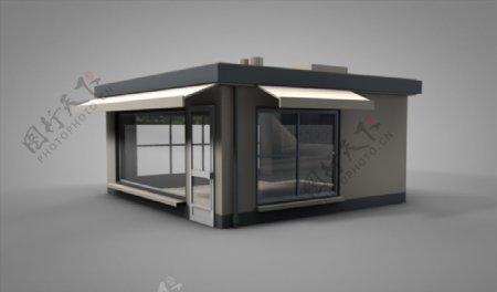 C4D模型像素店铺房子图片