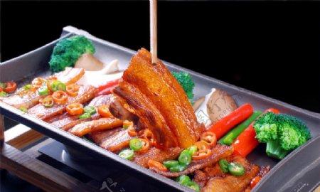 碳烤野猪肉图片