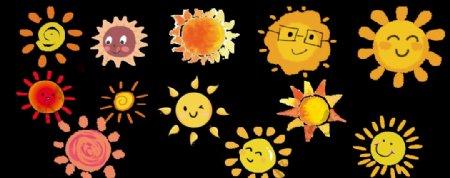 高清透明免抠卡通太阳元素图片