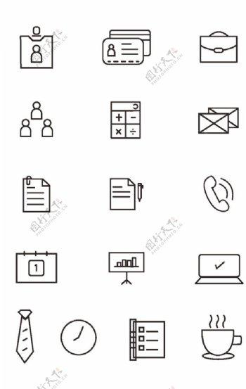 线形商业图标图片