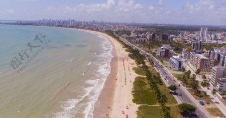 城市大海风景海岸天空图片