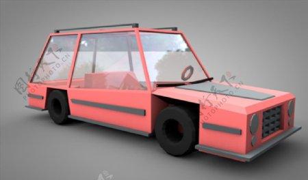 C4D模型汽车轿车卡通图片