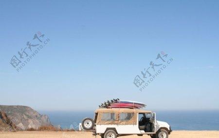 户外汽车旅游旅行背景素材图图片
