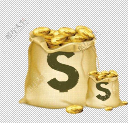 钱袋金币财富理财海报素材图片
