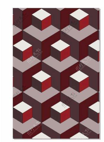 立体空间立体墙方格图片
