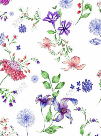 手绘花小碎花图片