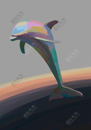 太空海豚图片