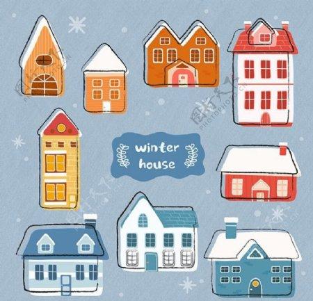 圣诞房子图片