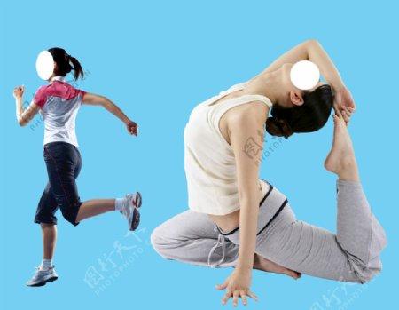 运动女人图片