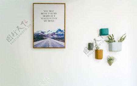 北欧极简墙面装饰图片