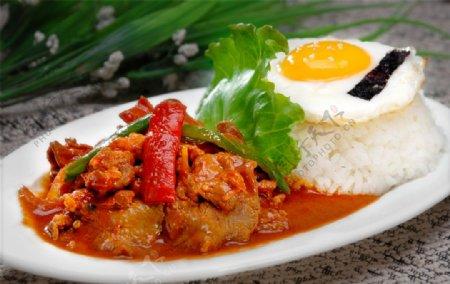 白沙炒饭图片
