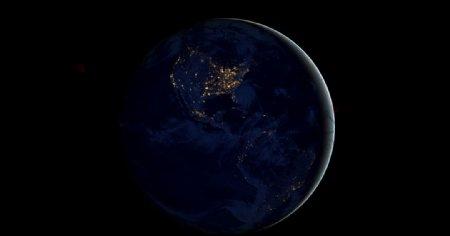 地球夜景图片