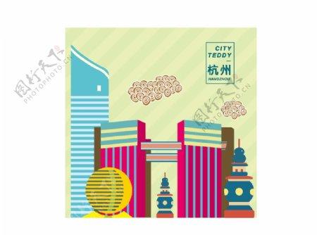 杭州建筑手绘勿商用来源于网络图片