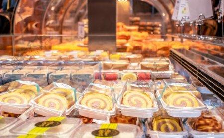 烘焙店面包店面包橱窗图片