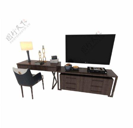 电视台灯桌3d模型图片