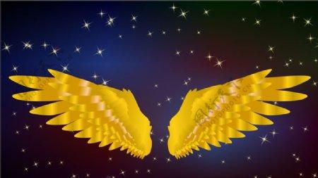 金色翅膀图片