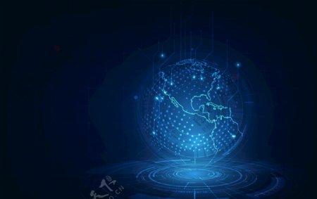 科技地球蓝色世界网络EPS模板图片