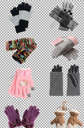冬季时尚针织毛线保暖手套图片