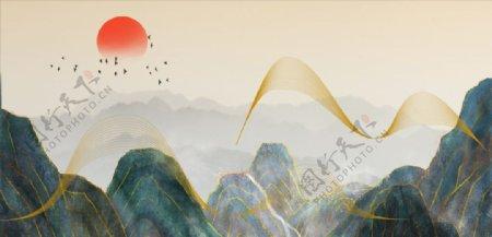 新中式山水图片
