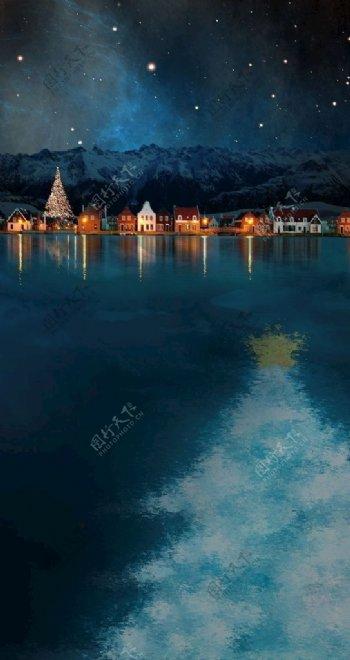 平安夜圣诞节节日壁纸锁屏图片