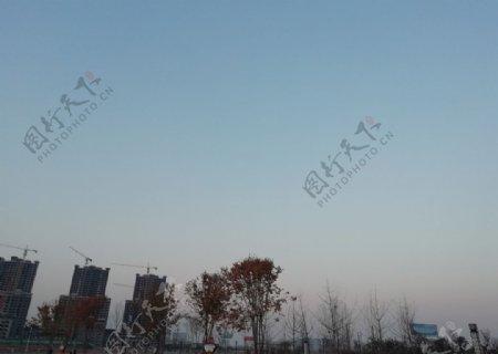公园素材图片蓝天白云