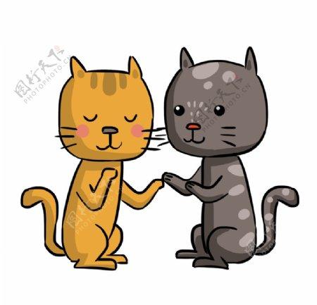 情侣小猫图片
