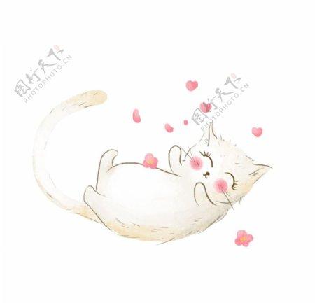 手绘卡通猫咪图片