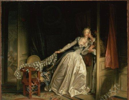 洛可可风格古典油画图片