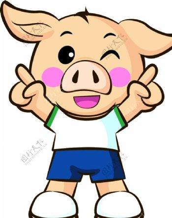 猪猪卡通形象图片