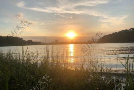 日落西山图图片