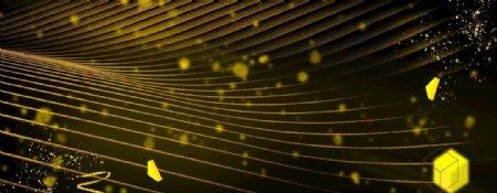线条纹理几何黑金背景图片