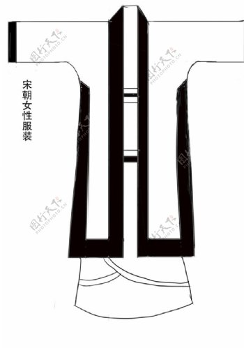 宋朝女性服饰图片