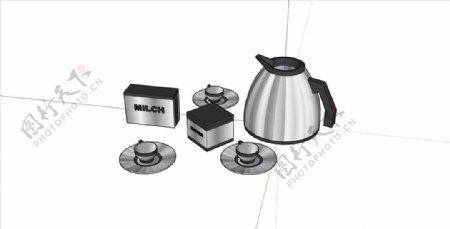 热水壶咖啡杯组合图片