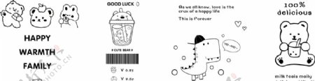 卡通动物简笔画图片
