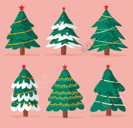 圣诞树矢量素材图片