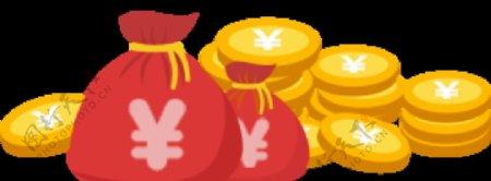 钱袋金币图片