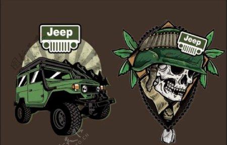 骷髅绿色汽车图片