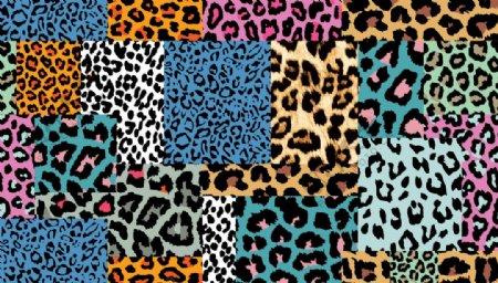 豹纹拼接图片