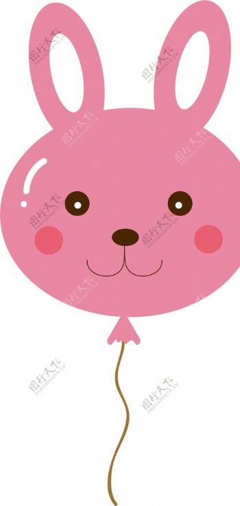 可爱兔子气球图片