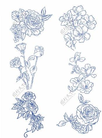 花朵线条图片