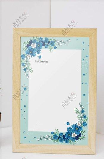 清新花瓣边框信Ψ 纸书信图片