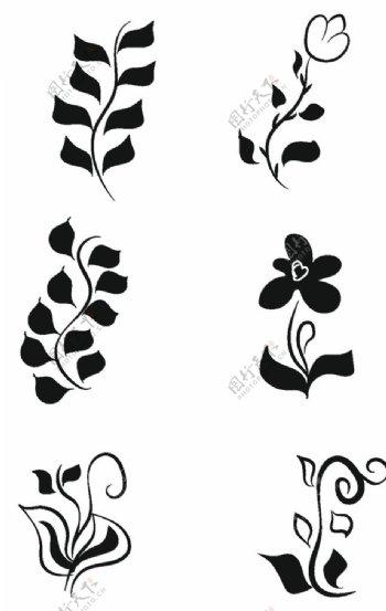 树叶花纹图片