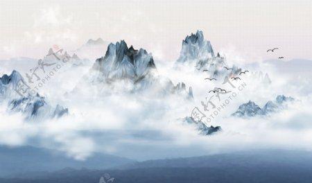 山水画山水情图片