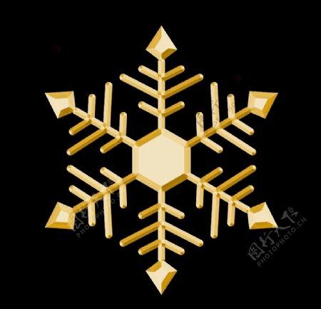 立体雪花图片