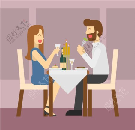 餐厅吃饭图片