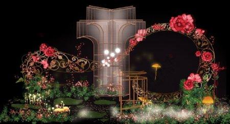 玫瑰花婚礼效果图图片