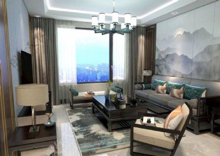 新中式客厅图片